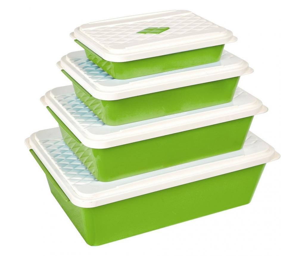 Set 4 cutii pentru depozitare Smartline