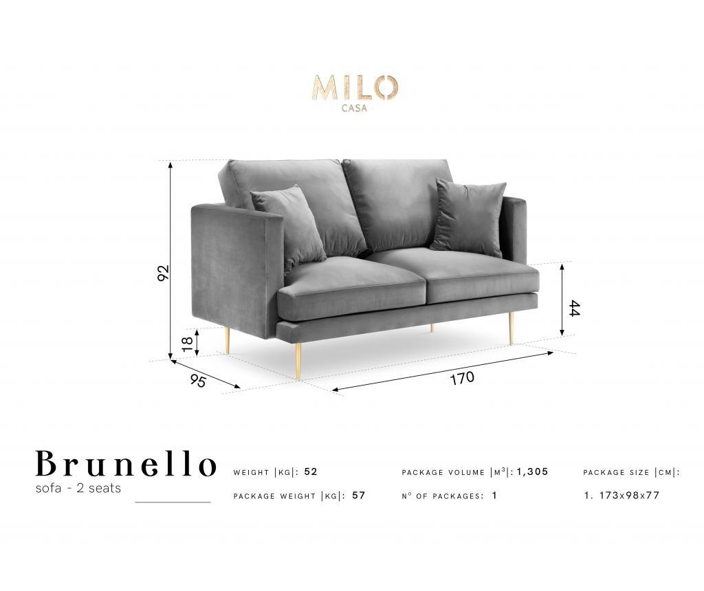 Canapea cu 2 locuri Brunello Beige