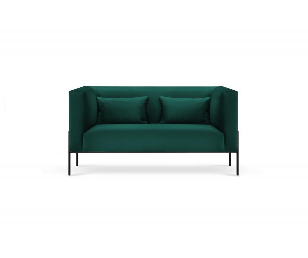 Canapea cu 2 locuri Carla Bottle Green