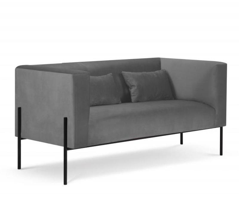 Sofa cu 2 locuri Carla Grey