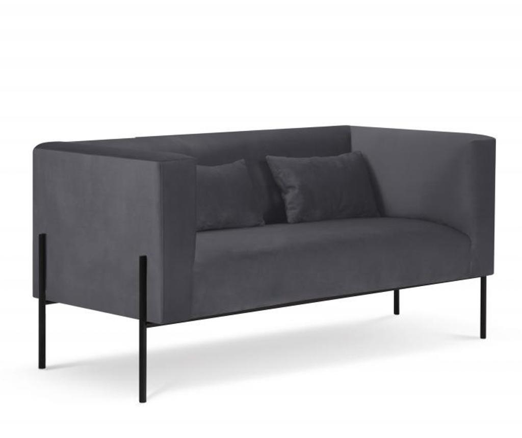 Canapea cu 2 locuri Carla Dark Grey