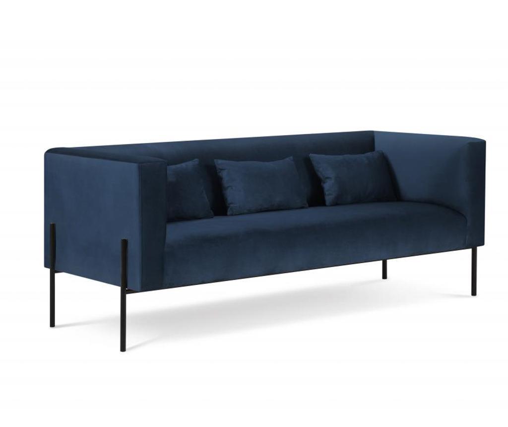 Carla Dark Blue Háromszemélyes kanapé