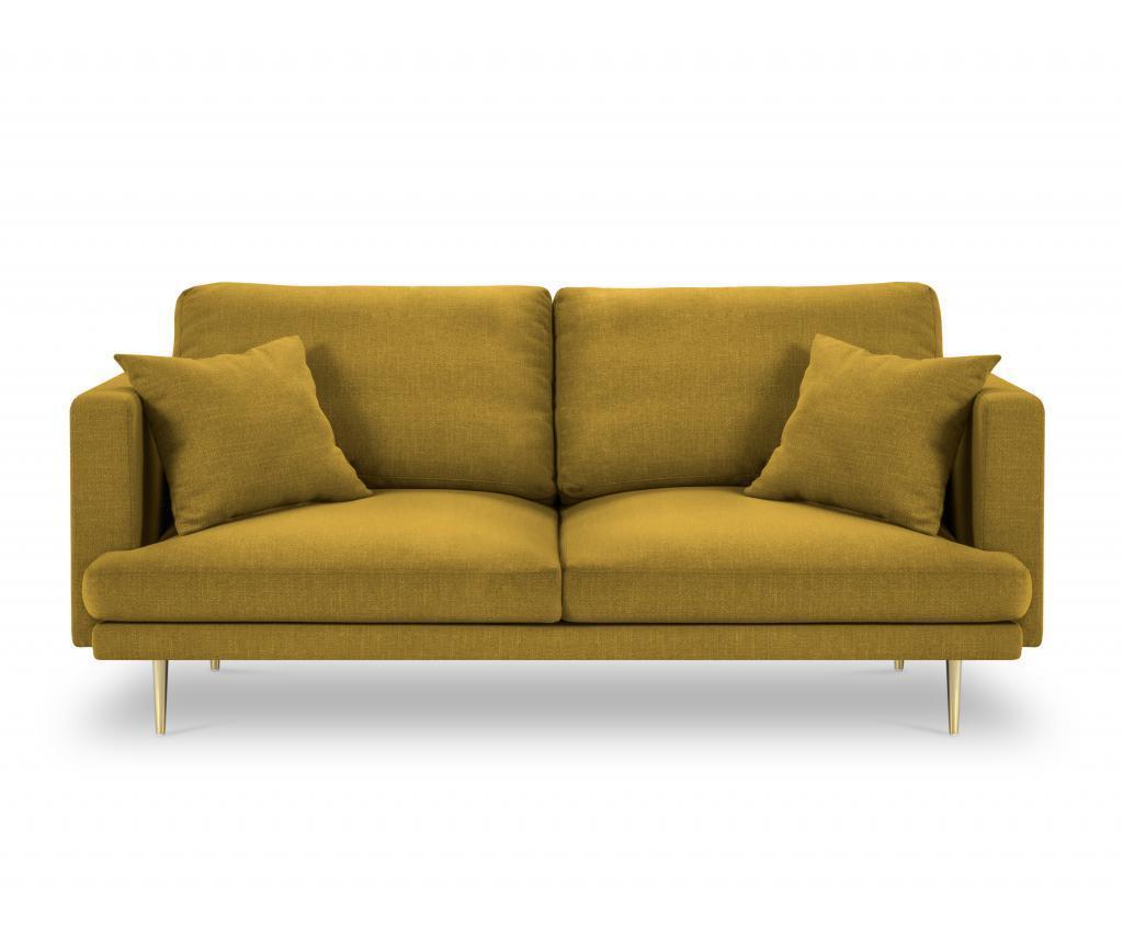 Canapea cu 3 locuri Flavio Yellow