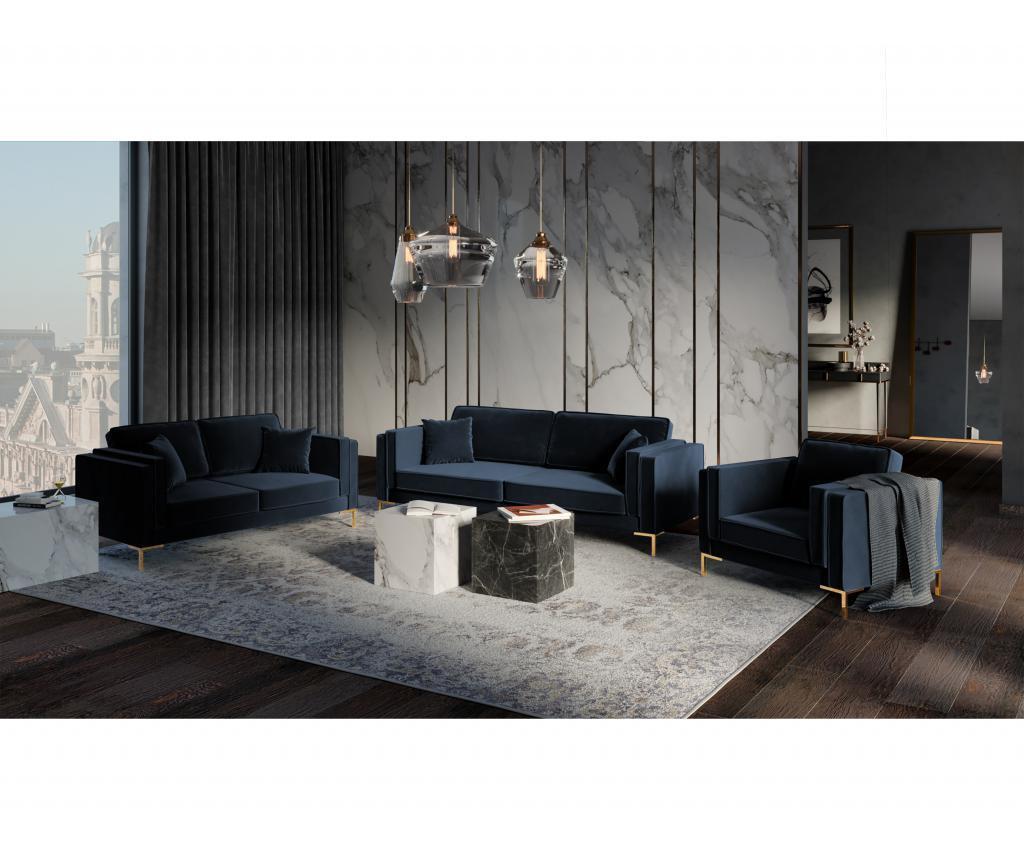 Sofa cu 3 locuri Giuseppe Dark Blue
