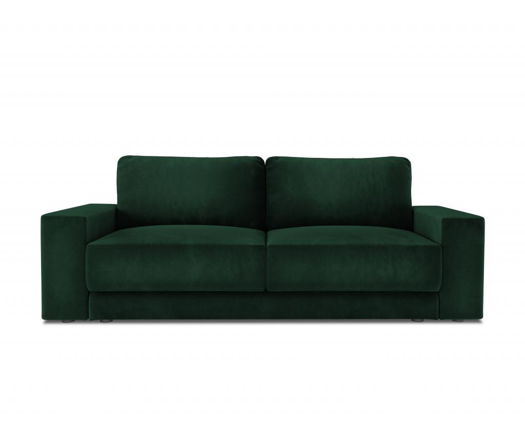 Canapea extensibila cu 4 locuri Gaia Bottle Green