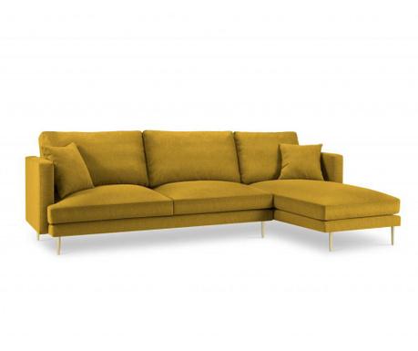 Desna kotna sedežna garnitura Flavio Yellow
