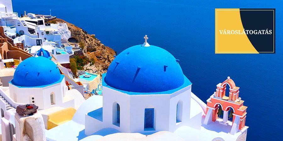 Santorini városlátogatás
