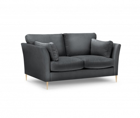 Sofa dvosjed Paris Dark Grey