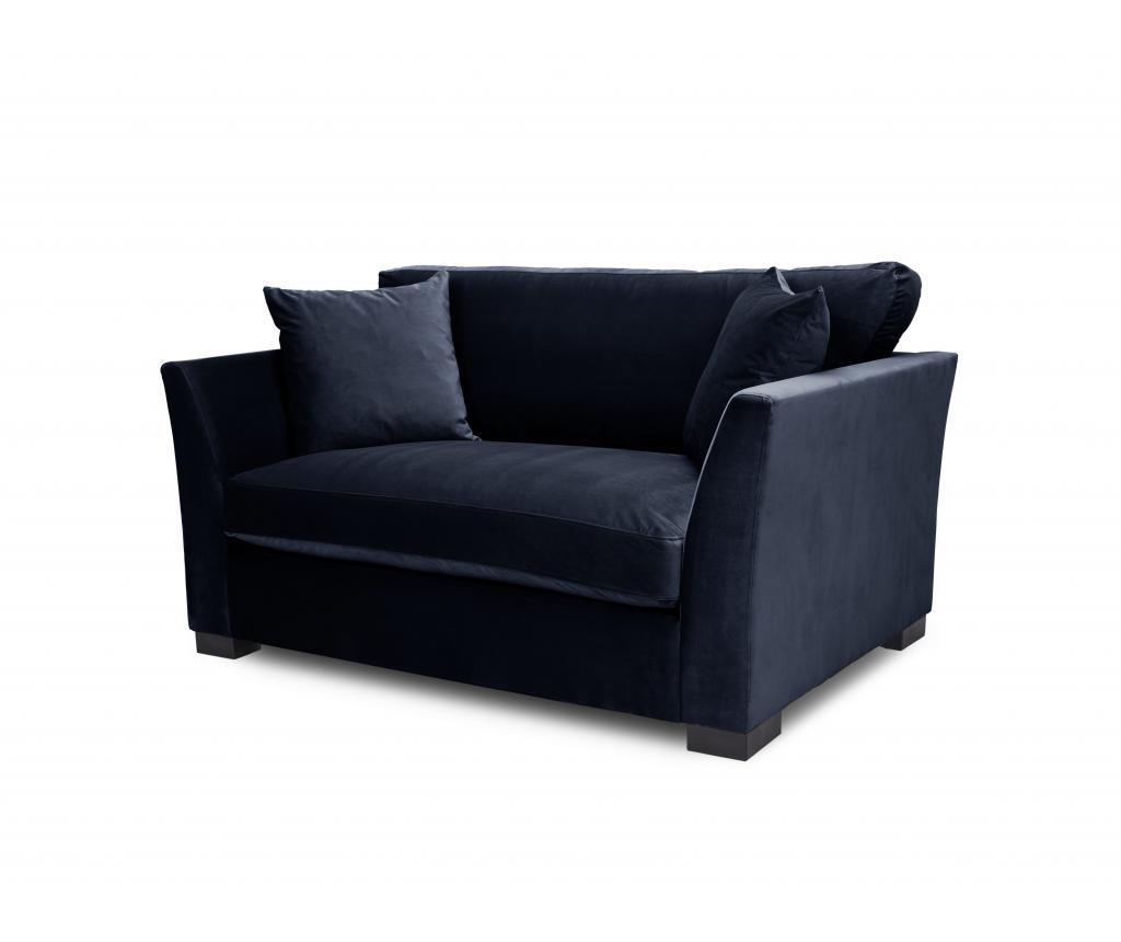 Canapea 2 locuri Times Navy Blue