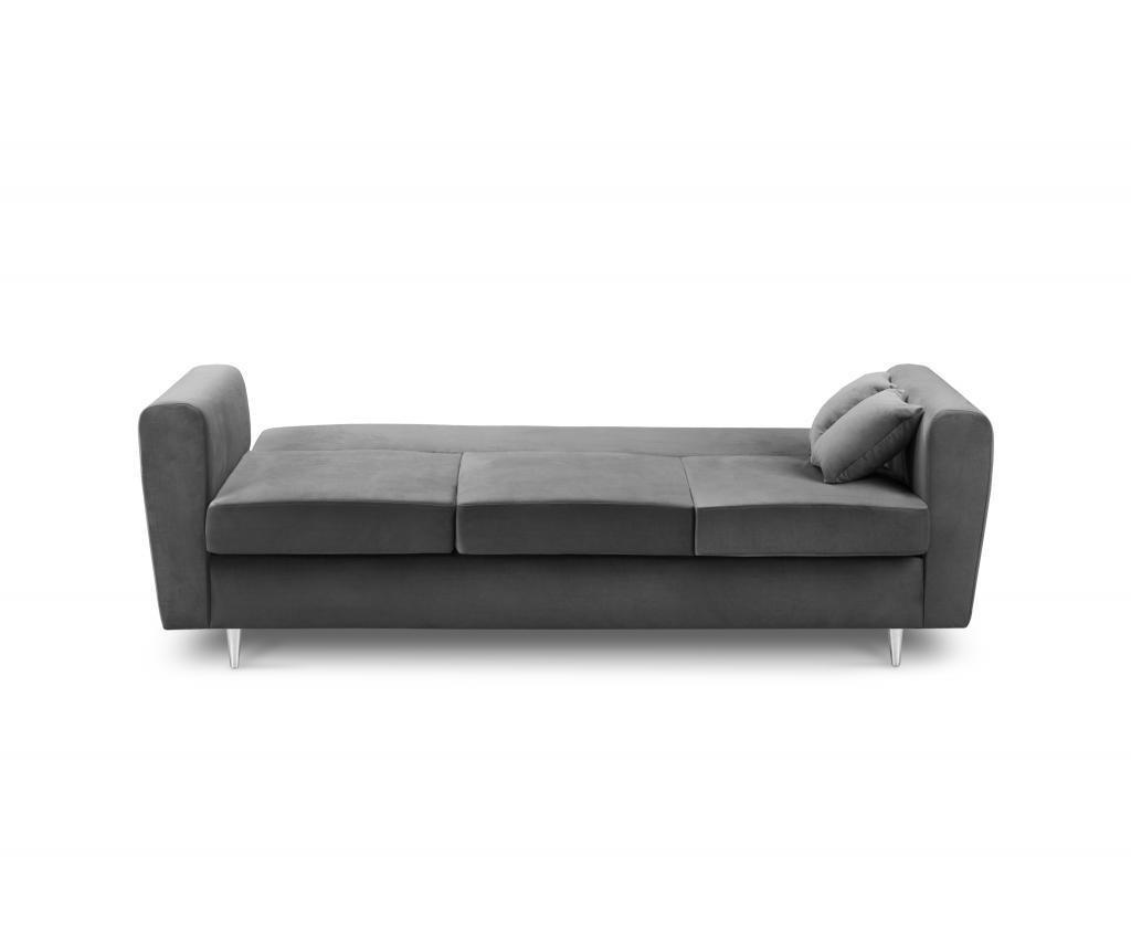 Canapea 3 locuri Deauville Dark Grey