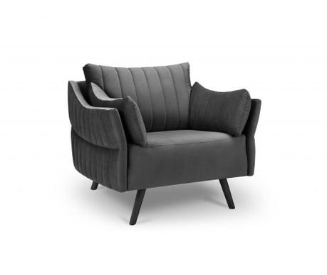 Fotel Louvres Dark Grey