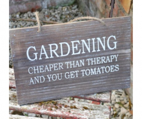 Drveni vrtni znak Therapy