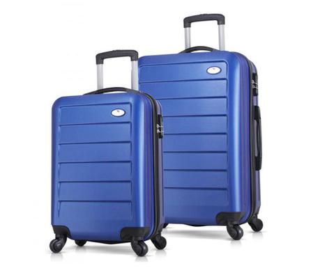 2 db Gurulós bőrönd