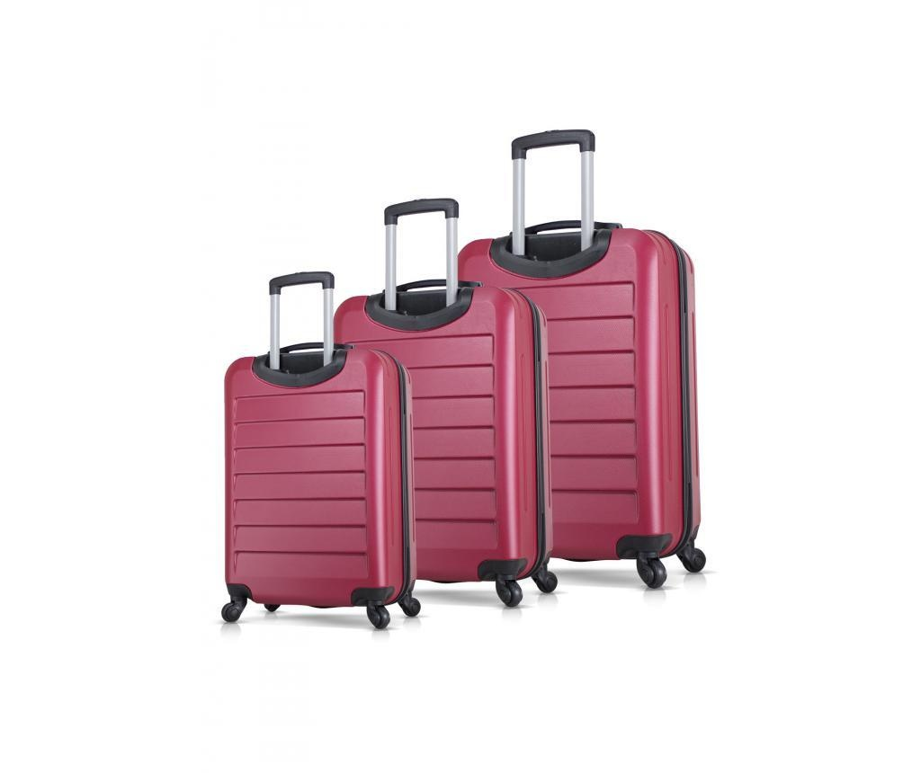 Set 3 trolere Ruby Claret Red