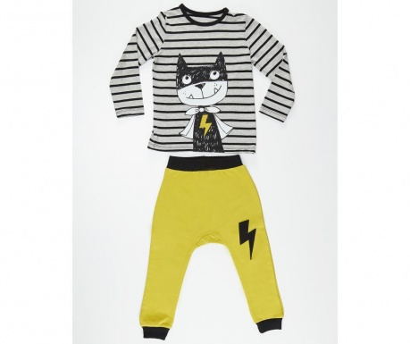 Set bluza si pantaloni pentru copii Hero Cat 8 ani