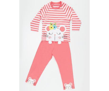 Pijama pentru copii Little Mouse 3 ani