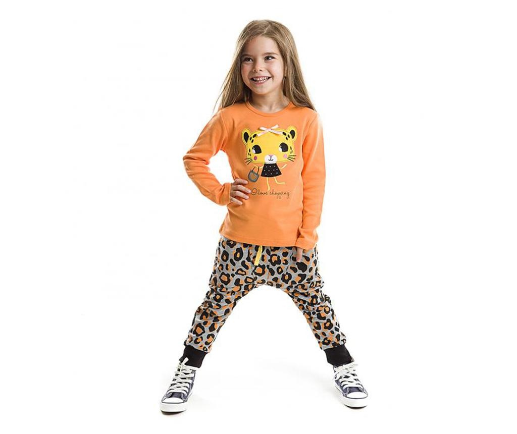 Set bluza si pantaloni pentru copii Leopard 3 ani