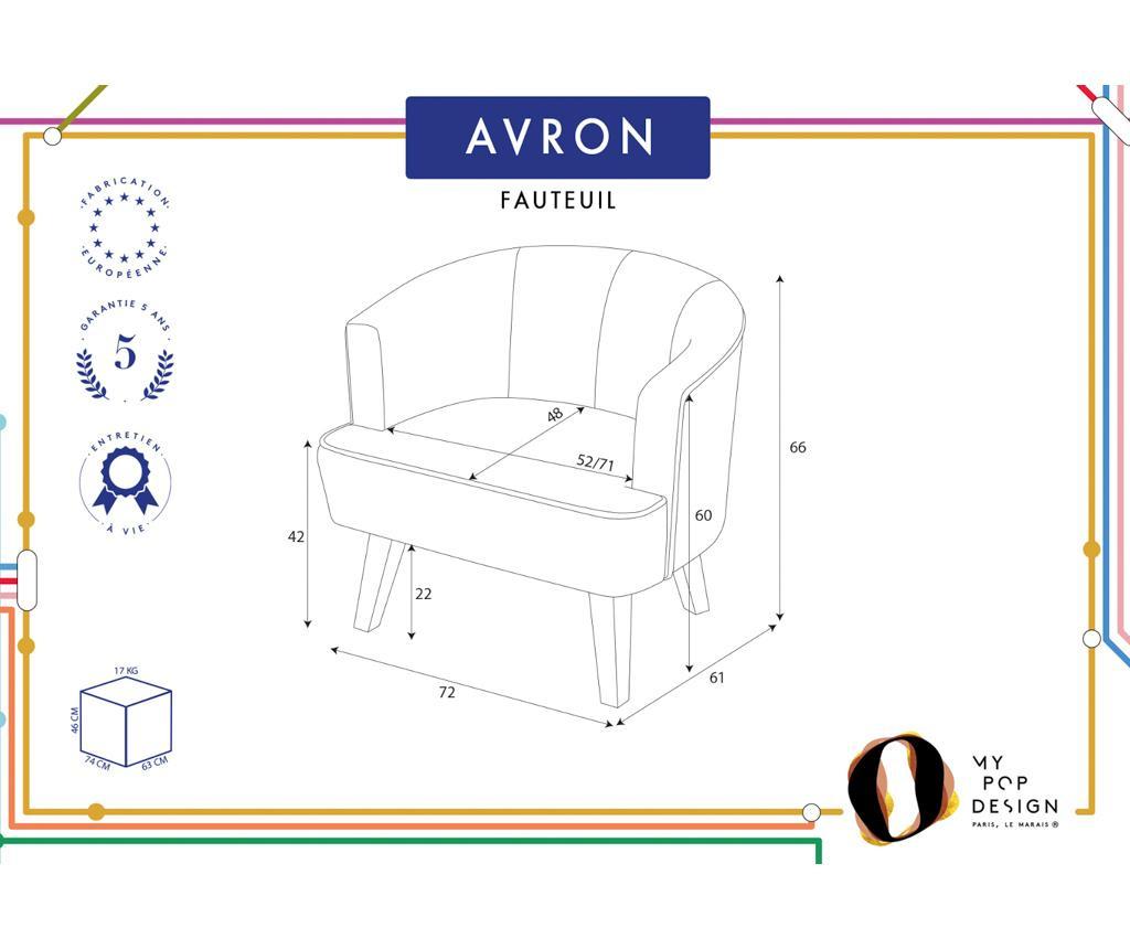 Fotelja Avron Uni