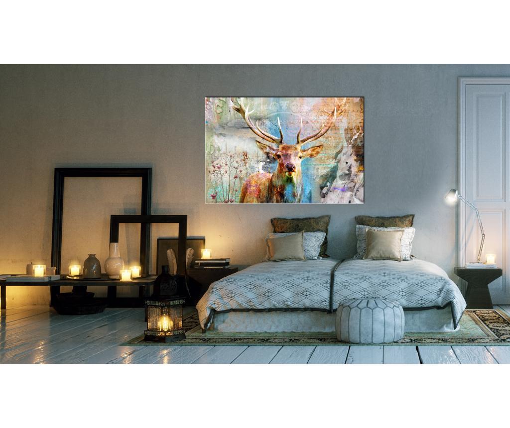 Deer On Wood Kép 120x80 cm