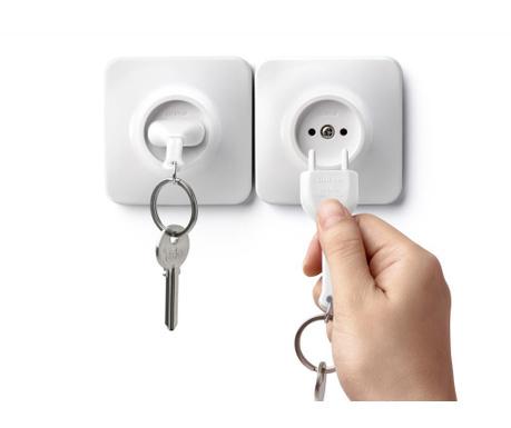 Unplug White Kulcstartó tartóval