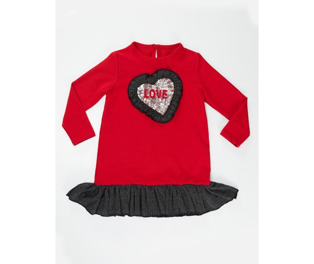 Dječja haljina Heart Ruffled 8 god.