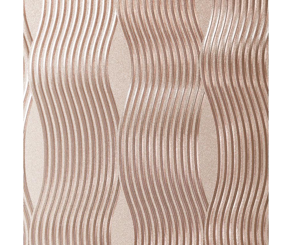 Foil Wave Rose Gold Fotótapéta 53x1005 cm