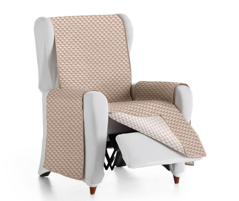 Ватиран калъф за фотьойл Oslo Reverse Beige & Ecru
