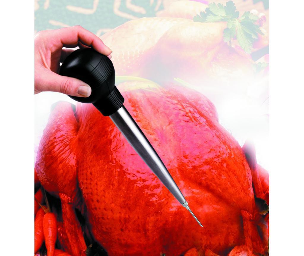 Brizga za meso in krtača za čiščenje