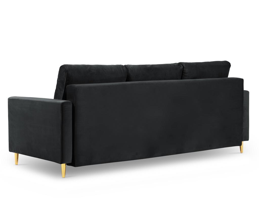 Tokyo Dark Grey Háromszemélyes kihúzható kanapé