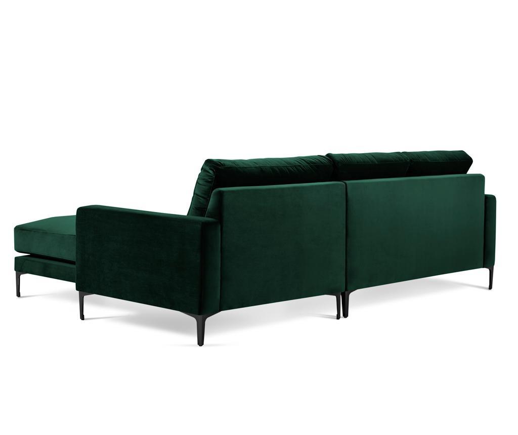 Ljeva kutna sofa četvorosjed Harmony Bottle Green
