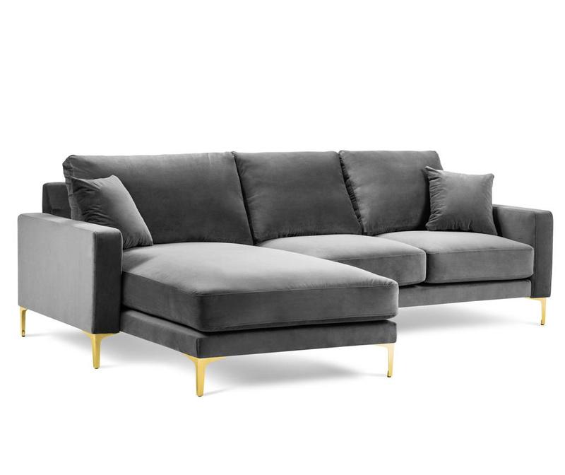 4 Seater Left Corner Sofa Poeme Grey