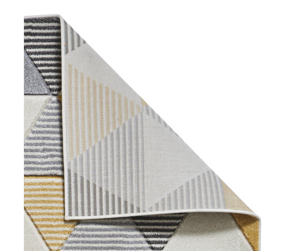 Preproga Matrix Grey Yellow 160x220 cm