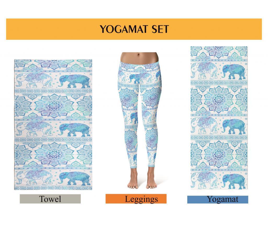 Set saltea pentru yoga, prosop yoga si colanti dama Oyo L