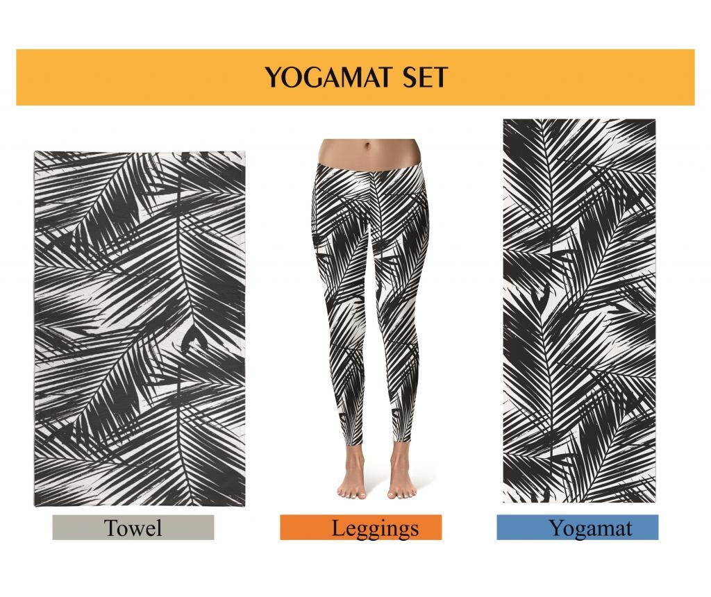 Set saltea pentru yoga, prosop yoga si colanti dama Oyo S