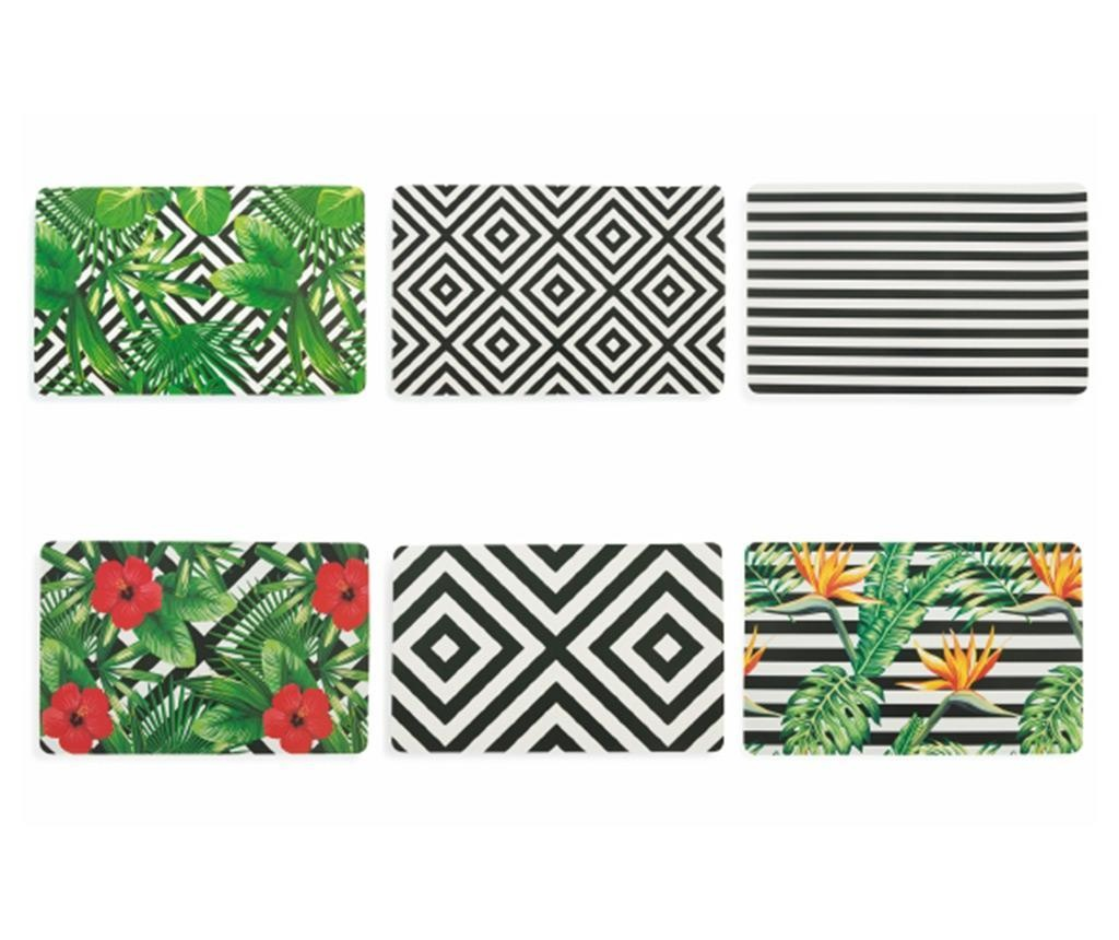 Set 6 podmetača Club Tropicana 28x45 cm