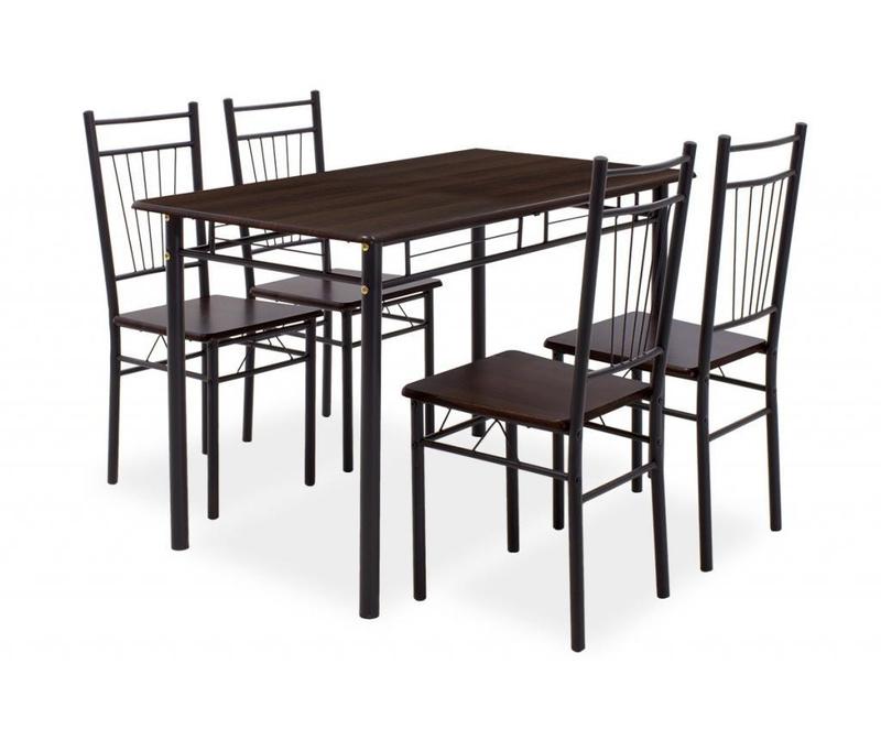 Set stol i 4 stolica Roza Walnut