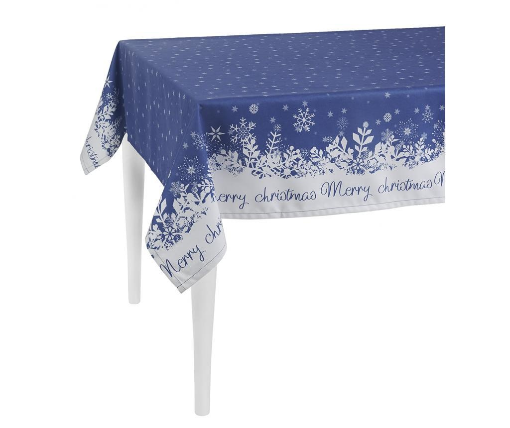 Merry Christmas Blue Asztalterítő 140x180 cm