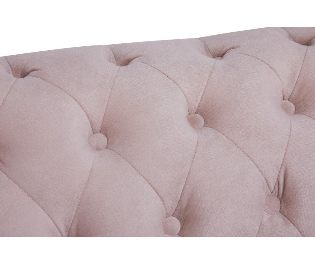 Kanapa 3-osobowa Chesterfield Light Pink Jasmine Velvet