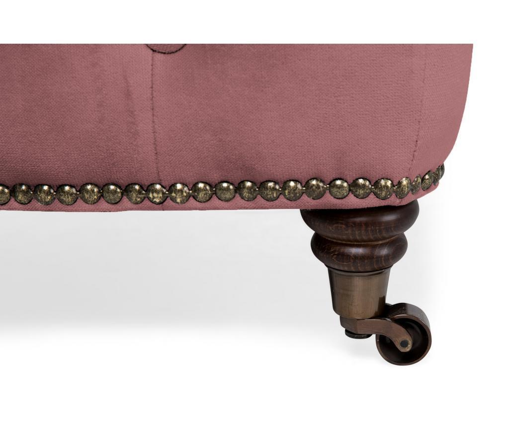 Tabure Chesterfield Rust Pink Velvet