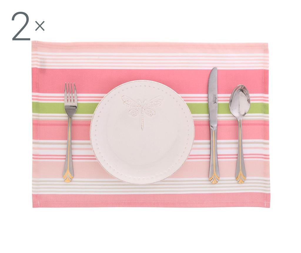 Sada 2 prestierania Lines Pink 33x45 cm
