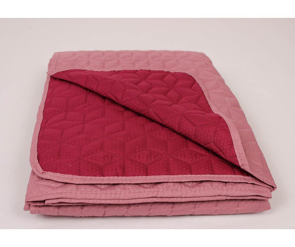 Cuvertura matlasata Ultrasonic Bubble Pink 220x240 cm