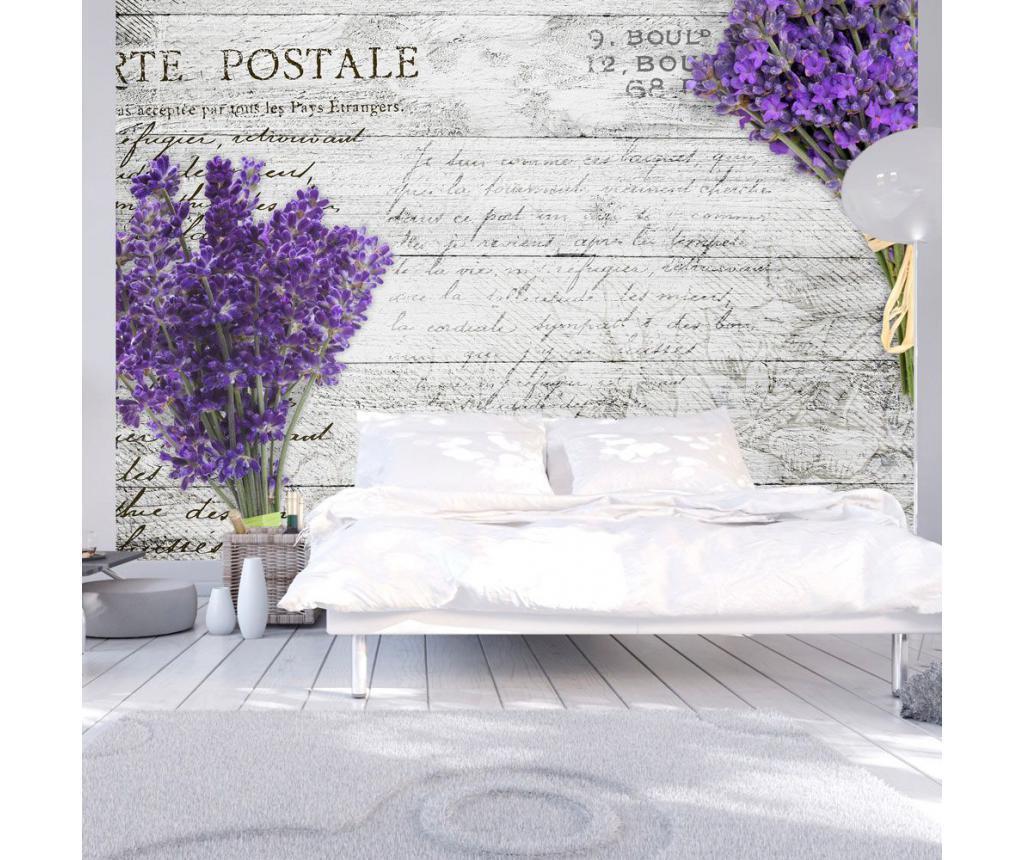Fototapet Lavender Postcard 140x200 cm