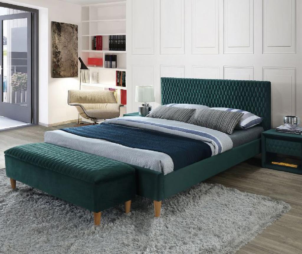 Azzuro Velvet Green Ágy 160x200 cm