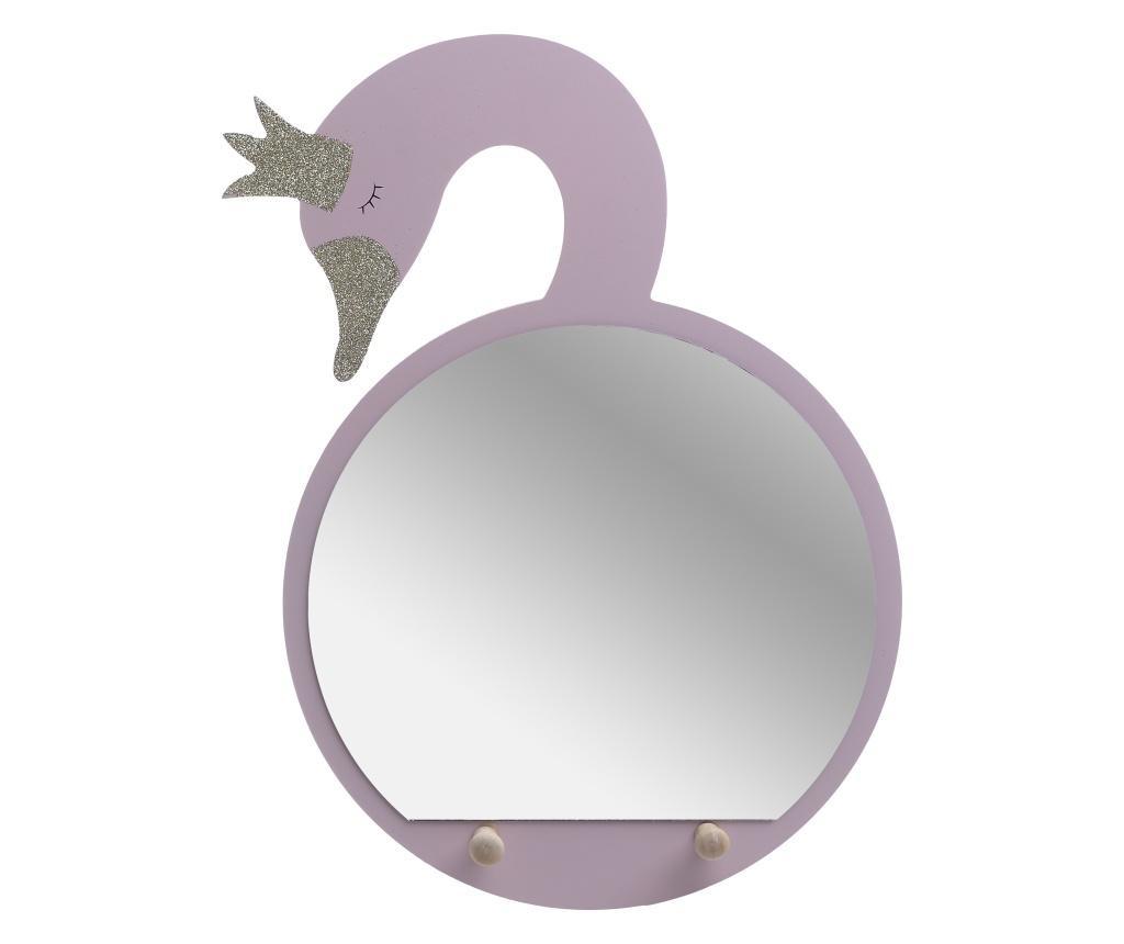 Cuier cu oglinda Swan Pink
