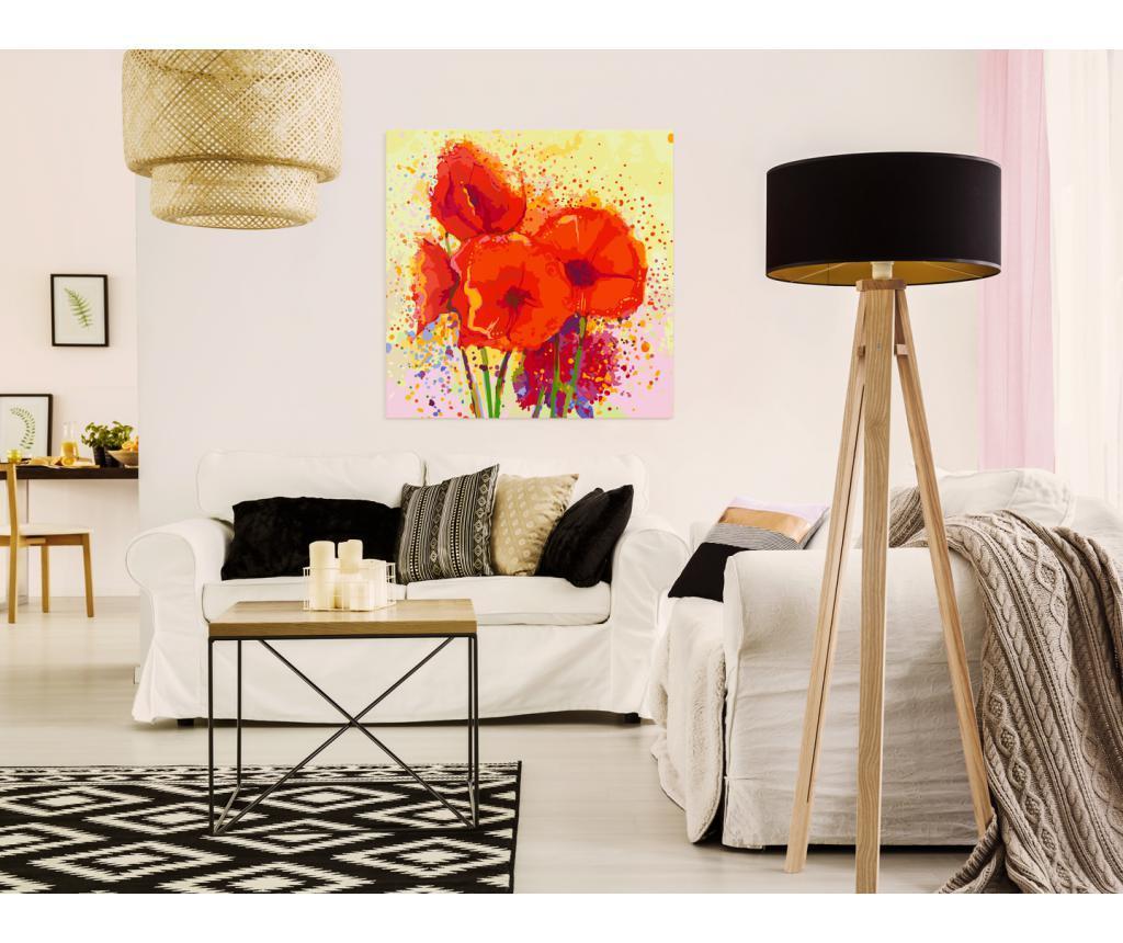 Poppies (modern) DIY kanavász kép 60x60 cm