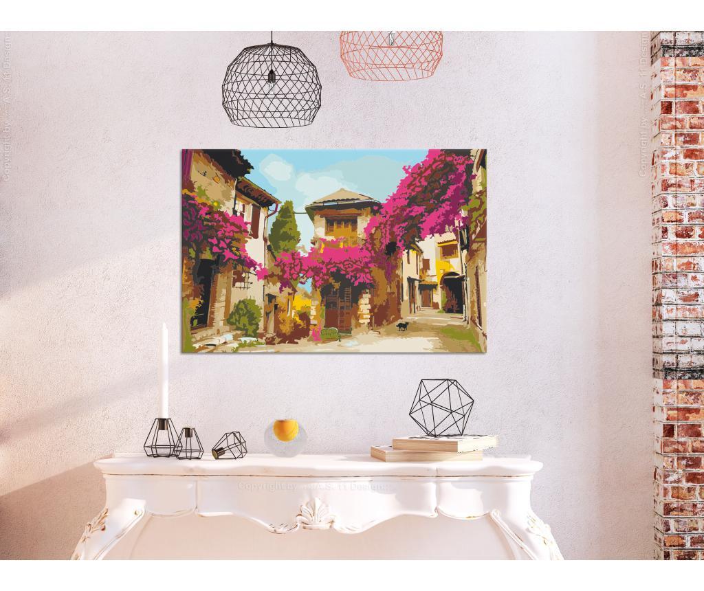 Mediterranean Town DIY kanavász kép 40x60 cm