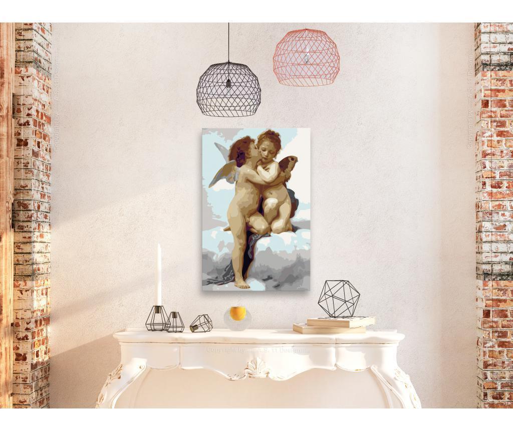 Kit tablou canvas DIY dupa numere Angels (Love) 40x60 cm