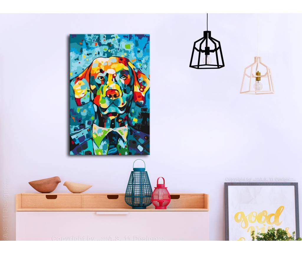 Dog Portrait DIY kanavász kép 40x60 cm