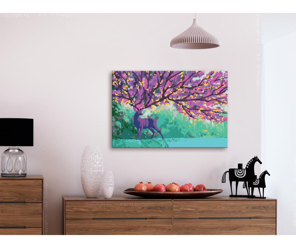 Purple Deer DIY kanavász kép 40x60 cm