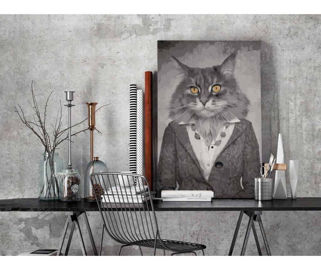 Elegant Cat DIY kanavász kép 40x60 cm